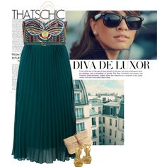*Teal, created by nensi on Polyvore