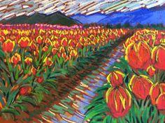 NEW LISTING ON EBAY!! ORIGINAL 9X12 SOFT PASTEL BY Tim Bruneau!! BIDS START ONE PENNY!!! Artist Floral & Gardens Pastels Original Tim Bruneau Impressionism Signed #Impressionism