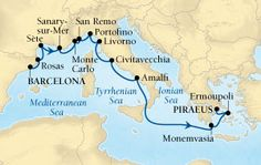 13-day Riviera & Aegean Splendours BARCELONA TO PIRAEUS (ATHENS)  |  SEABOURN ODYSSEY  |  JUL 16, 2017 OCEAN VIEW SUITE FROM  	$	5,999*