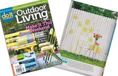 DIY Outdoor Living Magazine features the Dandelion Stencil from Cutting Edge Stencils to dress up a plain fence. Stencil Wall Art, Cutting Edge Stencils, White Fence, Living Magazine, Stencil Designs, Diy Patio, Modern Wall Art, Wall Spaces, Vinyl Decals