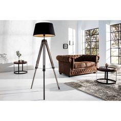 Stojací lampa Trigon 100-145 cm černá