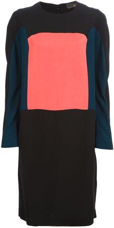 Fendi Multicolor Colour Block Dress- Lyst