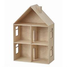 Använd din fantasi och inred ditt egna dockhus från Ferm Living från scratch, använd färg, tapeter och miniatyrmöbler för att skapa ett hem till dockor eller andra mindre leksaker. En perfekt present till den som gillar att vara kreativ!