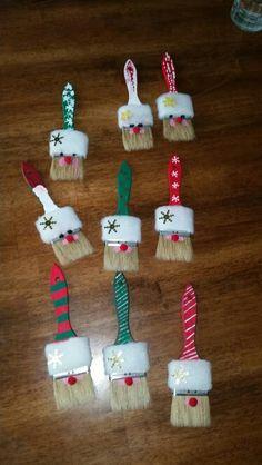 Santa paint brush craft