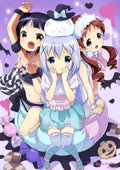 Halloween anime girls