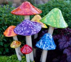 Got my mom some of these for her birthday.  Now I want some!  So cute scattered around the garden!