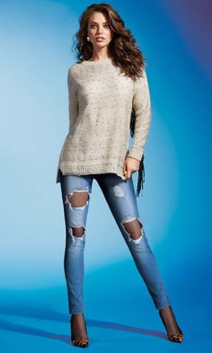 Emily Didonato CALZEDONIA Pop Star Collection Leggings and Fishnet Tights (FW 2015.16)