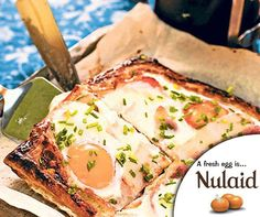 A twist on the classic bacon and eggs, this quick tart is perfect for a hungry gathering at brunch. For the full recipe, click on the link – http://ablog.link/66c. #Nulaid #Farmfresh