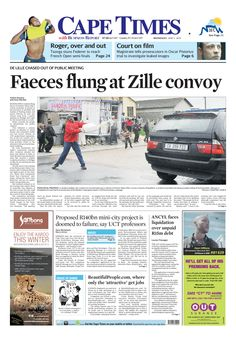 Faeces flung at Zille convoy
