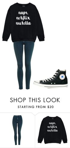 """Untitled #189"" by cruciangyul on Polyvore featuring Topshop and Converse"