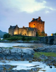 Eilean Donan Castle in the Scottish Highlands formed the basis of the castle in Brave...