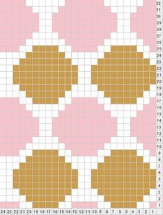 polka dot knitting chart