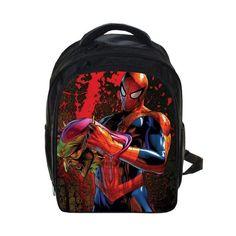 Anime Spiderman Backpack For Teenage Boys Batman School Bags  Spiderman Batman Printing Backpacks Bagpack Kid d80cba6fc721d