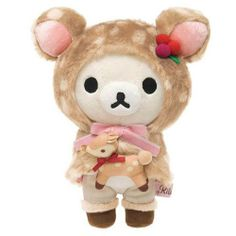 deer Rilakkuma white bear plush toy by San-X