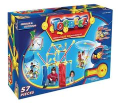 Toobeez ultimate Life Size Building Set, 57 Pieces by Superstructs. $149.99. From the Manufacturer                Often described as giant Tinker Toys, the award winning Toobeez is a life-sized construction toy comprised of interlocking tubes and spheres that can be linked together to create anything imaginable.   Toobeez are an open-ended toy so there is no limit to what your child can build with his or her creativity.  Build confidence, flexibility and imagin...