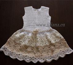 Crochet dress. PDF Pattern . No 84 por Illiana en Etsy
