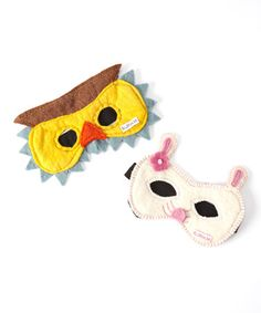 Love this Felted Owl & Bunny Mask Set on #zulily! #zulilyfinds