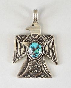 THUNDERBIRD PENDANT TOP W/TURQUOISE-010 | Gary Reeves | Native Artist | 製品案内 | FUNNY : ファニー
