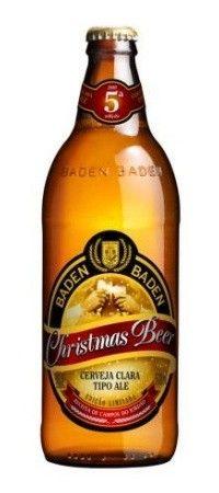Cerveja Baden Baden Christmas Beer, estilo Specialty Beer, produzida por Baden Baden, Brasil. 5.5% ABV de álcool.