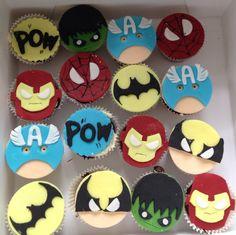Superhero cupcakes by Daniellerosemakes