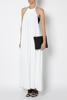 Witchery gold trim maxi dress