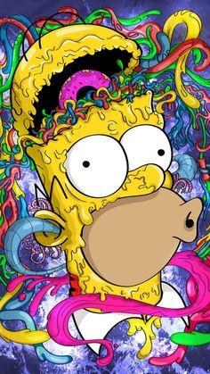 Simpson Wallpaper Iphone, Cartoon Wallpaper Iphone, Disney Wallpaper, Crazy Wallpaper, Trippy Wallpaper, Graffiti Wallpaper, Disney Drawings, Cute Drawings, Drawing Disney