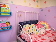 Five ways to add colour to your family home - easy ways to use paint to brighten up your family house and make it colourful Cloud Shelves, Paint Meaning, Monochrome Bedroom, Diy Wall Stickers, Painted Doors, Creative Decor, Grey Walls, Nurseries, Accent Colors