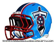 #Titans Helmet #NFL #NIKE Charles Sollars Concepts @charles elliott Sollars