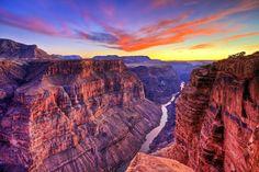 El Gran Cañón, al norte de Arizona, Estados Unidos.
