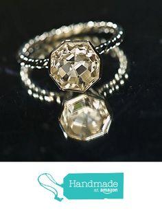 5.5 Carat White Sapphire Asscher Cut Handmade Argentium Unique Engagement Ring, Statement Ring from Janeys Jewels http://www.amazon.com/dp/B018PTNM5M/ref=hnd_sw_r_pi_dp_B2czwb18AZH9N #handmadeatamazon