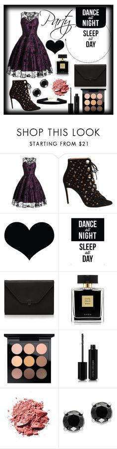 """Party"" by theizzybee-1 on Polyvore featuring Bionda Castana, Brika, Native State, Valextra, Avon, MAC Cosmetics, Marc Jacobs and Effy Jewelry"