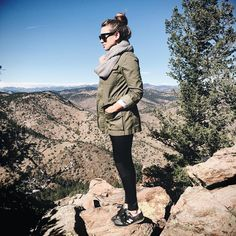 today's view ☀️ outfit details: www.liketk.it/1VAde #denver #hike #mtfalcon