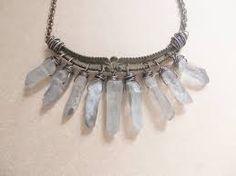 quartz crystal necklace - Google Search