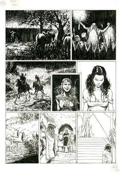 Les mondes de Thorgal Kriss de Valnor par Giulio De Vita - Oeuvre originale http://www.2dgalleries.com/art/les-mondes-de-thorgal-kriss-de-valnor-20471