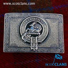Maxwell Clan Crest Kilt Belt Buckle