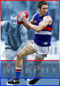 Our Captain ♥ Bob Murphy, Western Bulldogs, Australian Football, Great Team, Sports Stars, Sports Pictures, Red White Blue, Football Team, Baseball Cards