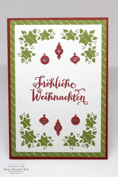 Weihnachtskarte - Wie ein Weihnachtslied - mit Produkten von Stampin' Up!