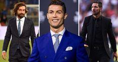 Los mejores 21 perfumes que todo hombre debe reconocer. Armani Perfume, Windsor Knot, Moda Casual, Cristiano Ronaldo, Suit Jacket, Costumes, Jackets, Outfits, Persona