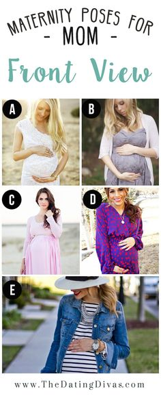 Maternity Poses for Mom | Front View | Maternity Photo Ideas