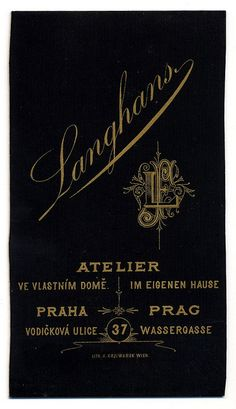 J. F. Langhans, Praha - Verso by oldichvondich (josefnovak33´s Alter Ego), via Flickr