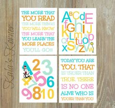Dr. Seuss nursery quotes: https://www.etsy.com/listing/229441232/dr-seuss-nursery-art-dr-seuss-wall-art