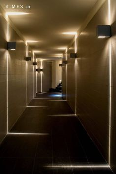 Visit the best interior lighting design projects. Home lighting design is always peculiar, at our house we want to make it as special as possible . Corridor Lighting, Sconce Lighting, Corridor Ideas, Stair Lighting, Linear Lighting, House Lighting, Hallway Ideas, Landscape Lighting, Outdoor Lighting