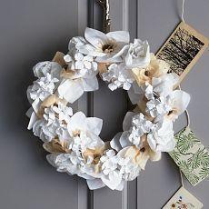 Paper Flower Wreath DIY!