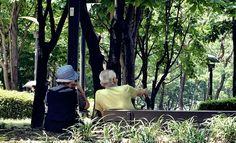 노부부 의 사랑은  함께 같은 곳을 보는 것.