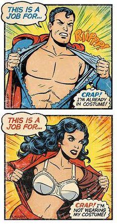 superman, wonder woman