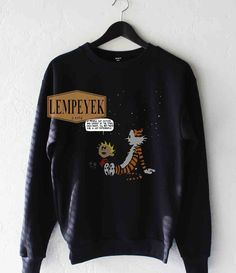 Calvin And Hobbes Sweatshirt Unisex Size S-3XL
