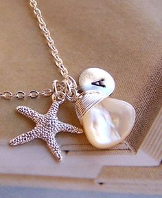 Personalized Necklace   Genuine Mother Of Pearl by lecollezione, $29.43