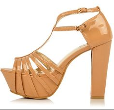 Trendy & Hot Clasp High-heeled Sandals----Apricot