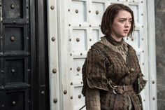 """Stick em' with the pointy end.""  Behold @Maisie_Williams as Arya Stark in #GoTSeason5"