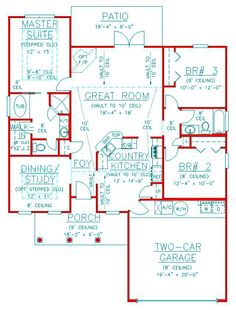 House Plan 53168 Level One